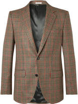 Husbands - Camel Slim-Fit Checked Wool and Cashmere Blazer