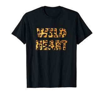 Born Wild African Safari Cheetah Print Gift Cute Wild Heart Leopard Spots Born Wild Animal Print Gift T-Shirt