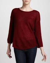 Halston Semisheer Bateau Sweater