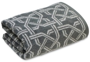 """Hotel Collection Ultimate MicroCotton Symmetry 30"""" x 56"""" Bath Towel, Created for Macy's Bedding"""