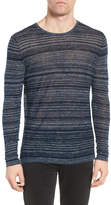 John Varvatos Two-Tone Stripe Sweater