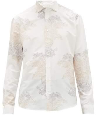 Etro Paisley-jacquard Cotton-blend Poplin Shirt - Mens - Cream Multi