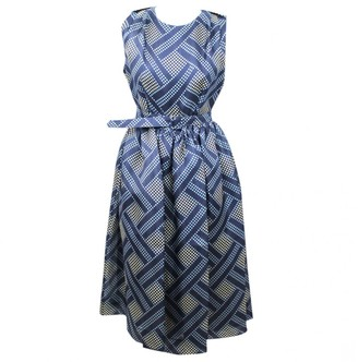 Jonathan Saunders Navy Silk Dresses