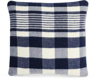 Apt2B Plaid Wool Pillow by Faribault WHITE/NAVY