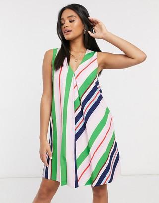 Ted Baker Creativ stripe tunic mini dress in multi