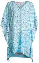 Lilly Pulitzer Lindamarie Mixed Print Silk Caftan