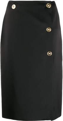 Versace Medusa buttons straight skirts