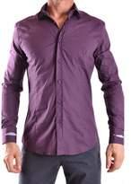 Daniele Alessandrini Men's Purple Cotton Shirt.