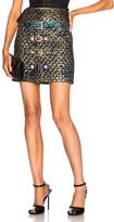 Dolce & Gabbana Metallic Jacquard Mini Skirt in Abstract,Blue,Metallics.