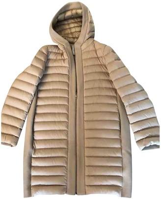 Moncler Long Beige Wool Coats
