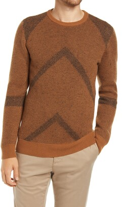 Billy Reid Painted Zigzag Wool & Cashmere Crewneck Sweater