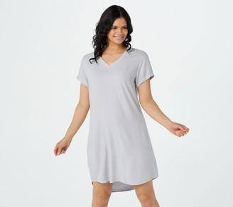 Side Stitch V-Neck T-Shirt Dress