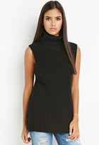 Forever 21 FOREVER 21+ Contemporary Zippered Turtleneck Tunic