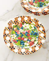 Mackenzie Childs MacKenzie-Childs Berries & Blossoms Melamine Buffet Plates, Set of 4