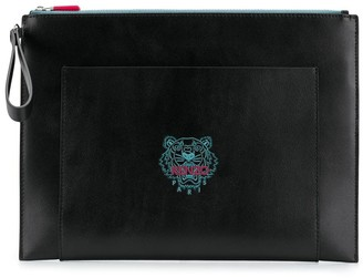Kenzo Tiger-Embroidered Clutch