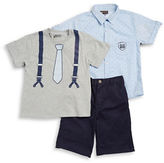 Nannette Boys 2-7 Boys Three-Piece Tee, Shirt and Shorts