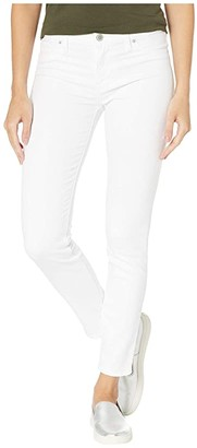 Hudson Jeans Nico Mid-Rise Skinny Five-Pocket Jeans in White (White) Women's Jeans