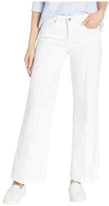 NYDJ Petite Petite Petite Wide Leg Trouser in Optic White (Optic White) Women's Jeans