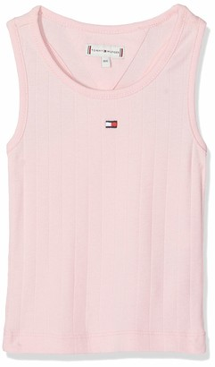 Tommy Hilfiger Girls SOLID Wide Rib Vest Top