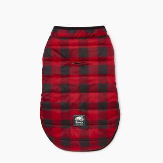 Roots Pooch Park Plaid Puffer Size 14