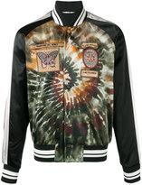 Valentino gradient patch bomber jacket - men - Cotton/Polyamide/Polyester/Viscose - 48