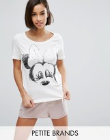 Vero Moda Petite Minnie Mouse Pajama Top