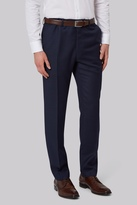 French Connection Slim Fit Navy Jacquard Pants