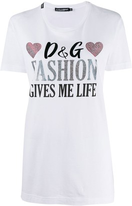 Dolce & Gabbana rhinestone embellished T-shirt