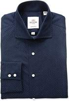Ben Sherman Men's Dot Print Spread Collar Dress Shirt
