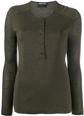 Tom Ford Henley Knitted Top