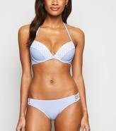 New Look Stripe Crochet Underwired Bikini Top