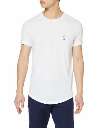 Religion Men's Plain Ss Crew Neck Tee with Curve Hem T - Shirt