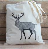 Bird Red Stag Cotton Tote Bag