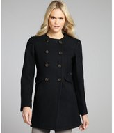 Joie caviar black wool double breasted 'Ike' coat