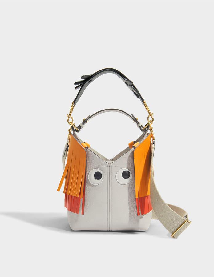 Anya Hindmarch The Bucket Mini Creature Bag in Mini Grain in Steam Mini Grained Leather