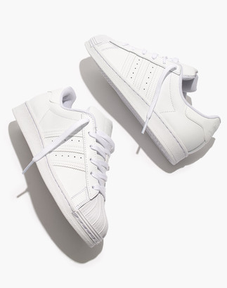 Madewell Adidas Superstar Lace-Up Sneakers in White