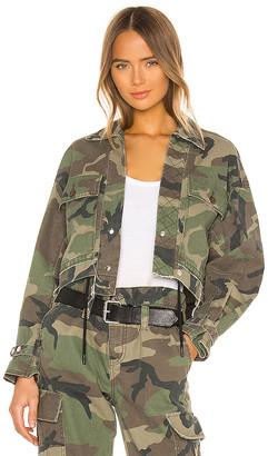 RtA Carlita Cropped Military Jacket
