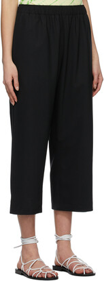 6397 Black Wide Pull-On Trousers