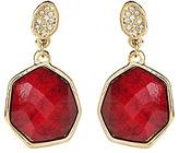 Amrita Singh Red & White Crystal Hamptons Hexagon Drop Earrings