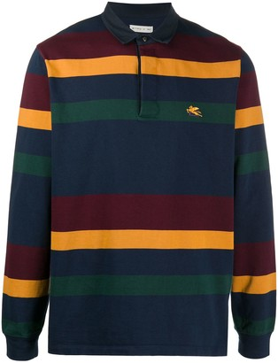 Etro Long Sleeve Striped Polo Shirt