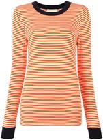 MICHAEL Michael Kors striped longsleeved T-shirt - women - Spandex/Elastane/Viscose - M