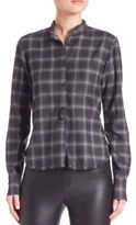 Helmut Lang Wool & Cashmere Plaid Top