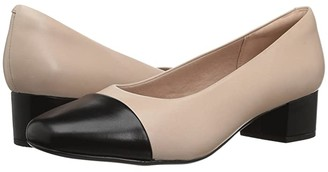 Clarks Chartli Diva (Nude Pink/Black Leather Combination) Women's Shoes