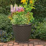 "Suncast Sonora 22"" Resin Wicker Planter 2-piece Set"