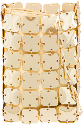 Paco Rabanne Iconic Mini Square 1969 Bag in Light Gold | FWRD