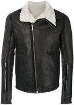 Rick Owens shearling lined jacket - men - Cotton/Calf Leather/Sheep Skin/Shearling - 50