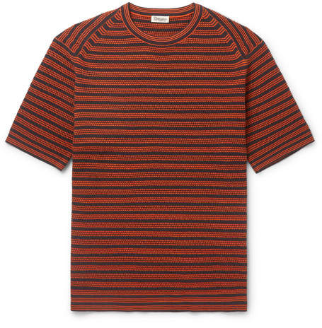 Camoshita Striped Ribbed Cotton Sweater