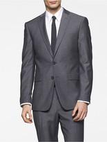 Calvin Klein X Fit Ultra Slim Fit Light Grey Sharkskin Suit Jacket