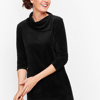 Talbots Luxe Velour Button Back Top