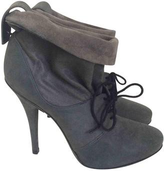 Elizabeth and James Grey Leather Ankle boots